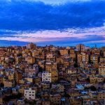 Amman blue lit buildings - © Mahmood Salam