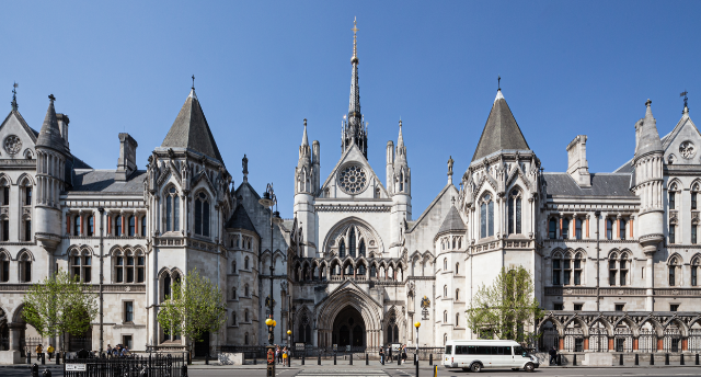 Royal Courts of Justice main gate. Photo: David Castor via Wikimedia Commons