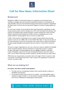 FRONT COVER Commonweal-Call-For-Ideas-2021-Information-Sheet